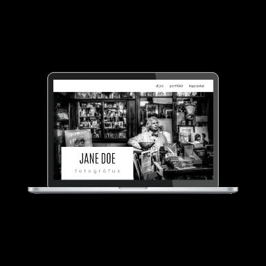 fotós portfólió képernyőmentés (laptop)