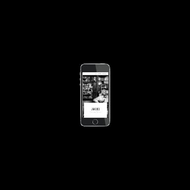 photographer portfolio screenshot (mobile)