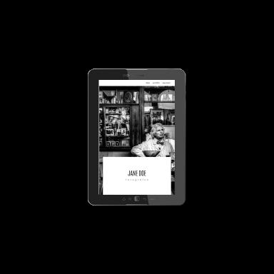 fotós portfólió képernyőmentés (tablet)