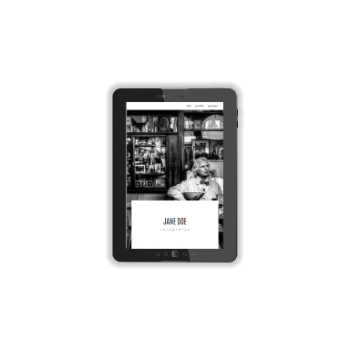 photographer portfolio screenshot (tablet)